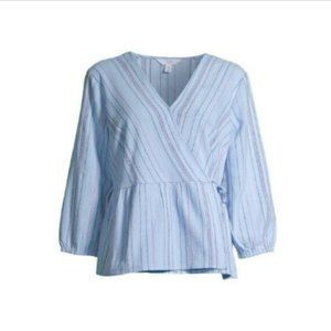 Time and Tru Womens Wrap Top size M NWT